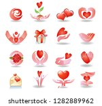 vector set with signs of love... | Shutterstock .eps vector #1282889962