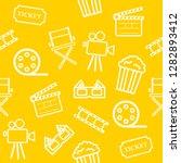 cinema seamless pattern on ... | Shutterstock .eps vector #1282893412
