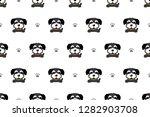 vector cartoon character black... | Shutterstock .eps vector #1282903708