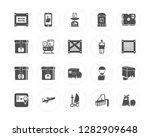 20 box  smartphone  forklift ... | Shutterstock .eps vector #1282909648