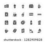 20 biscuit  beverage  invoice ... | Shutterstock .eps vector #1282909828