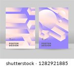 the abstract isometric ... | Shutterstock .eps vector #1282921885