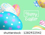 happy easter background design... | Shutterstock .eps vector #1282922542
