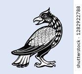 decorative bird. medieval...   Shutterstock .eps vector #1282922788