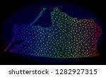 spectrum colored mesh vector... | Shutterstock .eps vector #1282927315