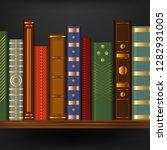realistic 3d detailed vintage... | Shutterstock .eps vector #1282931005