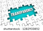 transparency openness clarity... | Shutterstock . vector #1282933852