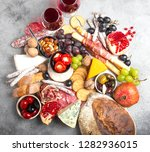 festive gourmet mix of snacks... | Shutterstock . vector #1282936015