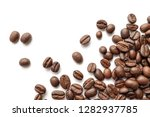 roasted coffee beans isolated... | Shutterstock . vector #1282937785