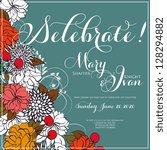 wedding invitation | Shutterstock .eps vector #128294882