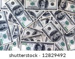a lot of one hundred american... | Shutterstock . vector #12829492
