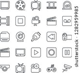thin line icon set   ticket... | Shutterstock .eps vector #1282959985