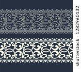 seamless vector border template ...   Shutterstock .eps vector #1282960132