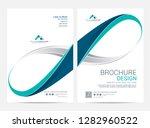 brochure template flyer design... | Shutterstock .eps vector #1282960522