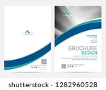 brochure template flyer design... | Shutterstock .eps vector #1282960528