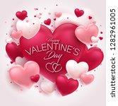 happy valentine's day background | Shutterstock .eps vector #1282961005