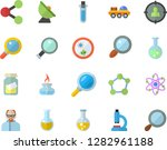 color flat icon set chemistry... | Shutterstock .eps vector #1282961188