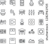 thin line icon set   baggage... | Shutterstock .eps vector #1282961935