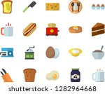 color flat icon set cake flat...   Shutterstock .eps vector #1282964668