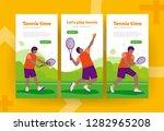 set of banners tennis player... | Shutterstock .eps vector #1282965208