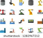 color flat icon set oil... | Shutterstock .eps vector #1282967212