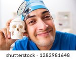 mad doctor working in the...   Shutterstock . vector #1282981648
