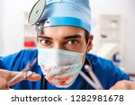 mad doctor working in the...   Shutterstock . vector #1282981678