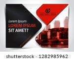 red and black presentation...   Shutterstock .eps vector #1282985962