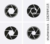 camera shutter  lenses and... | Shutterstock .eps vector #1282989115