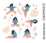 set of vector illustrations of... | Shutterstock .eps vector #1282990372