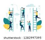 vector illustration  a man... | Shutterstock .eps vector #1282997395