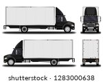 realistic truck. front view ... | Shutterstock .eps vector #1283000638