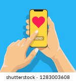 sending love message concept.... | Shutterstock .eps vector #1283003608