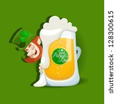saint patrick's day light beer... | Shutterstock .eps vector #128300615