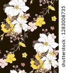 tropical vector floral seamless ... | Shutterstock .eps vector #1283008735
