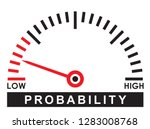 low  probability  dial scale  ... | Shutterstock .eps vector #1283008768