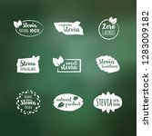 vector set of white design... | Shutterstock .eps vector #1283009182