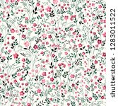 seamless floral pattern. meadow ... | Shutterstock .eps vector #1283011522