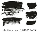 paint brush thin background... | Shutterstock .eps vector #1283012605