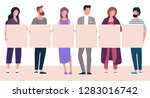 flat design trendy color vector ... | Shutterstock .eps vector #1283016742