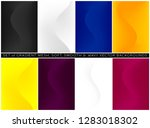 soft and smooth wavy lines... | Shutterstock .eps vector #1283018302