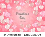 romantic background with hearts.... | Shutterstock .eps vector #1283020705