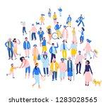 modern multicultural society... | Shutterstock .eps vector #1283028565