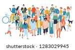 modern multicultural society... | Shutterstock .eps vector #1283029945