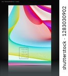 abstract colorful wavy lines... | Shutterstock .eps vector #1283030902