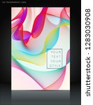 abstract colorful wavy lines... | Shutterstock .eps vector #1283030908