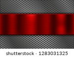 metal perforated background... | Shutterstock .eps vector #1283031325