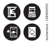 4 vector icon set   arcade game ... | Shutterstock .eps vector #1283034952