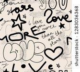 creative modren graffiti... | Shutterstock .eps vector #1283036368