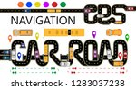 roads  cars  navigator tags.... | Shutterstock .eps vector #1283037238